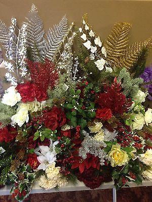 12x artificial christmas bunches sprays joblot silk flowers holly 10x artificial christmas bunches sprays joblot silk flowers holly bush clearance mightylinksfo