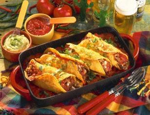 Das Rezept für Enchiladas mit Dips und weitere kostenlose Rezepte auf LECKER.de