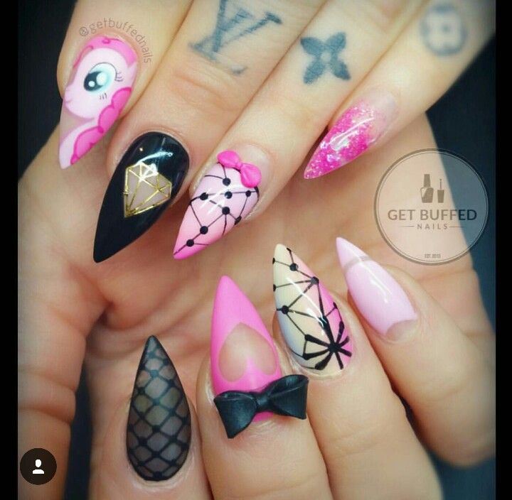 My little pony nails | Nails | Pinterest | Pony, Nail nail and ...