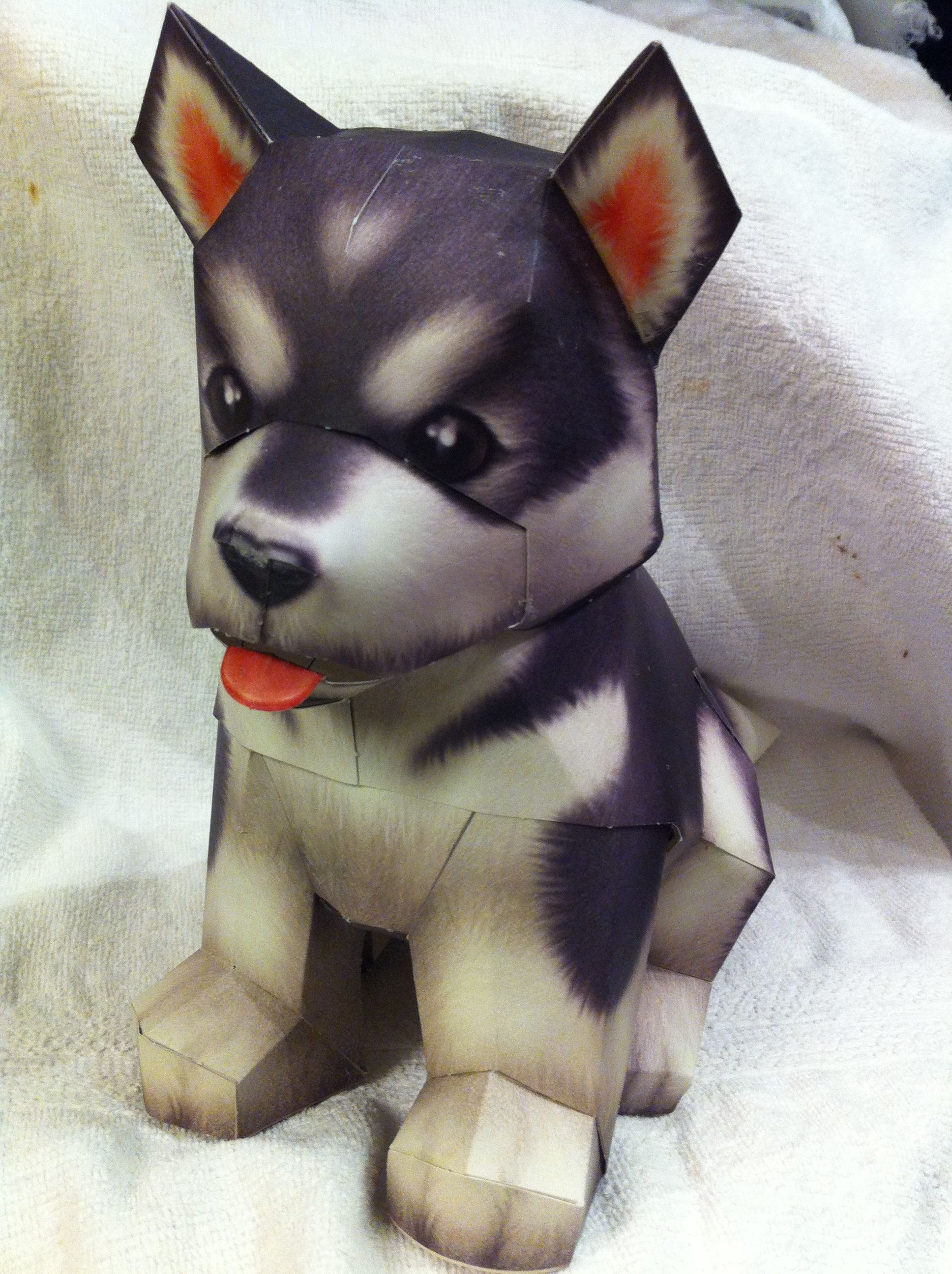 3d Paper Craft Alaskan Malamute | alaskan malamute ... - photo#32