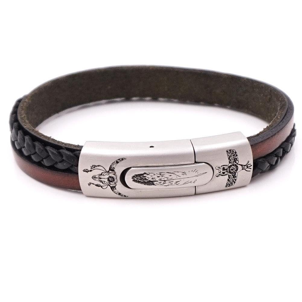 Herrenarmband Berlin Braun Schwarz Indian Style Gravur Gonas6sb Herren Armband Armband Armband Leder