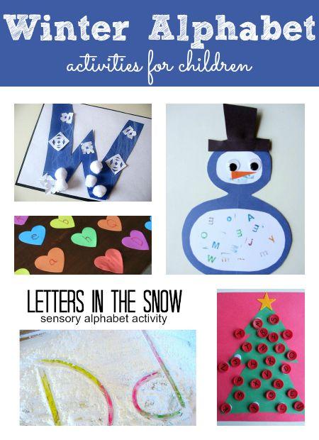 alphabet activities for every season winter themed activities treats alphabet activities. Black Bedroom Furniture Sets. Home Design Ideas