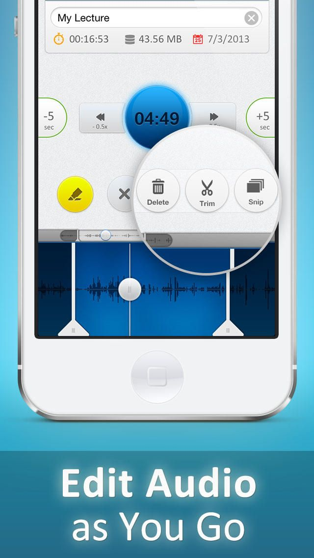 Recordium Pro - voice recorder app for iPhone, record and share