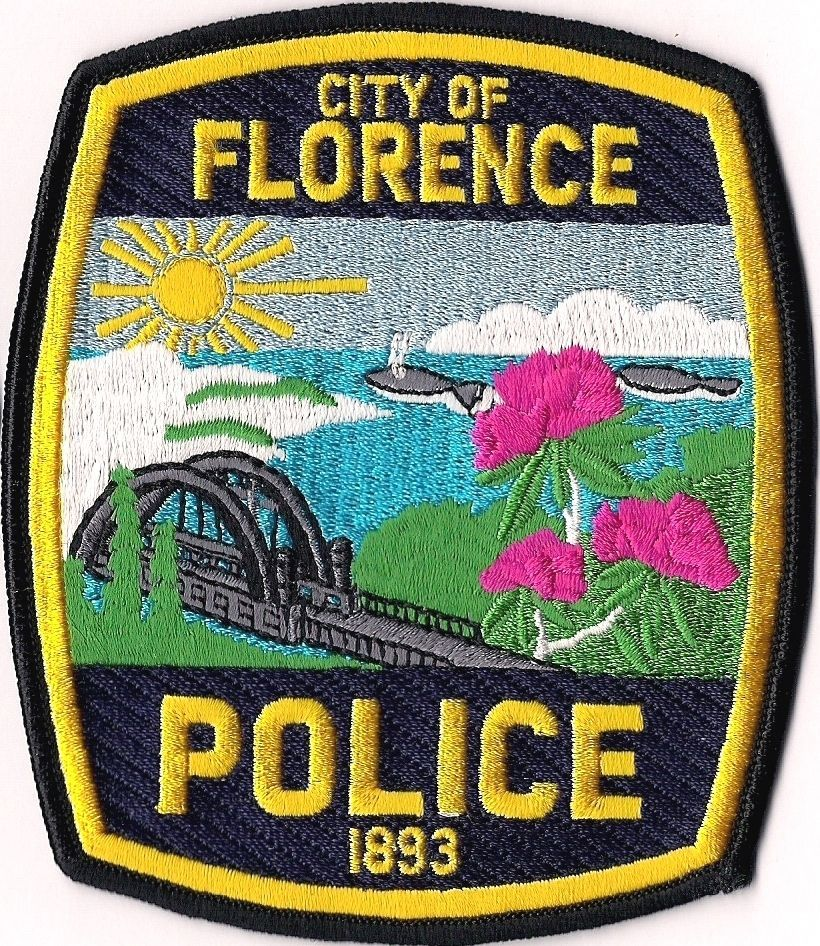 OR City of Florence Oregon Police Patch • 7.76 Police