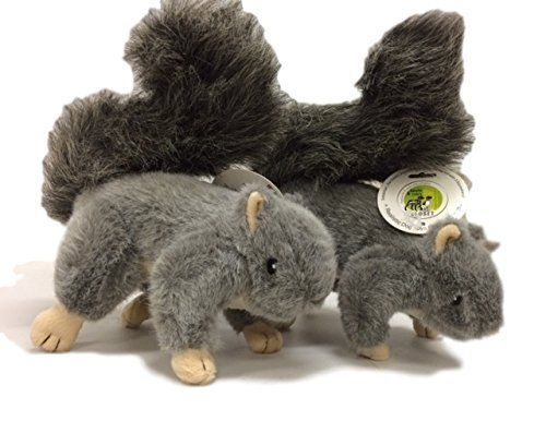 Realistic Plush Squirrel Dog Toy with Squeakers for