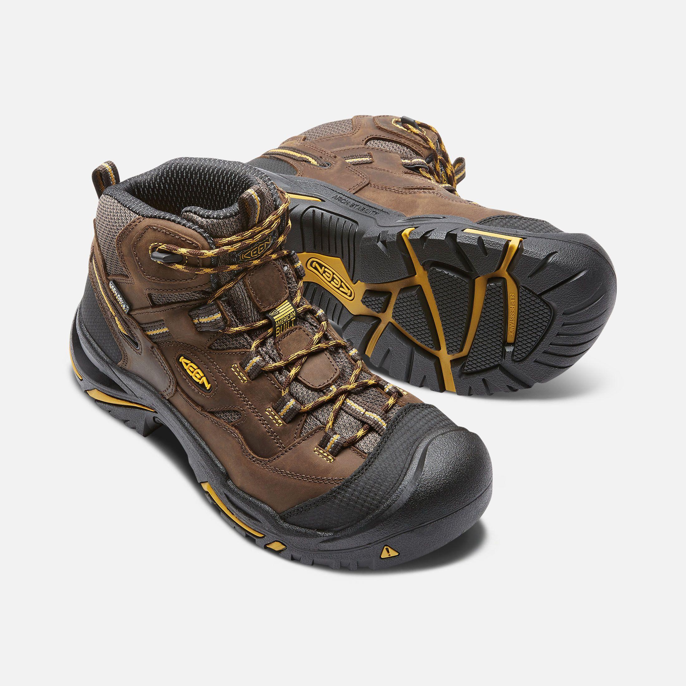 Keen Men S Waterproof Steel Toe Boots Braddock Mid 7 Wide