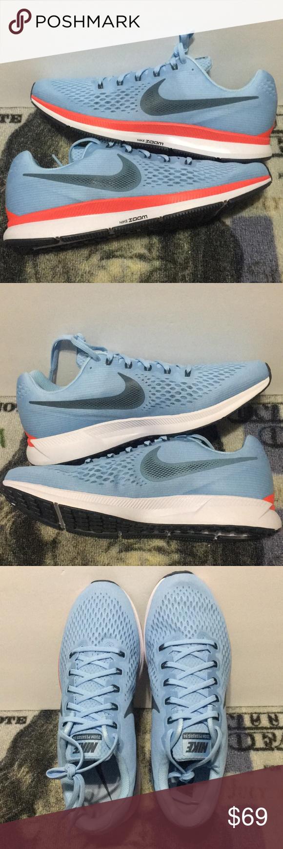 d8405f3e11f293 Nike Air Zoom Pegasus 34 Ice Blue Mens Sz 12.5 US New WITHOUT Box Nike Air
