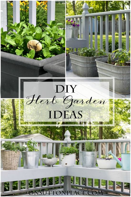 Diy Container Herb Garden Ideas Inspiration For Planting Herbs In Containers Patios Decks And Porches Can Easily Become Your Very Own