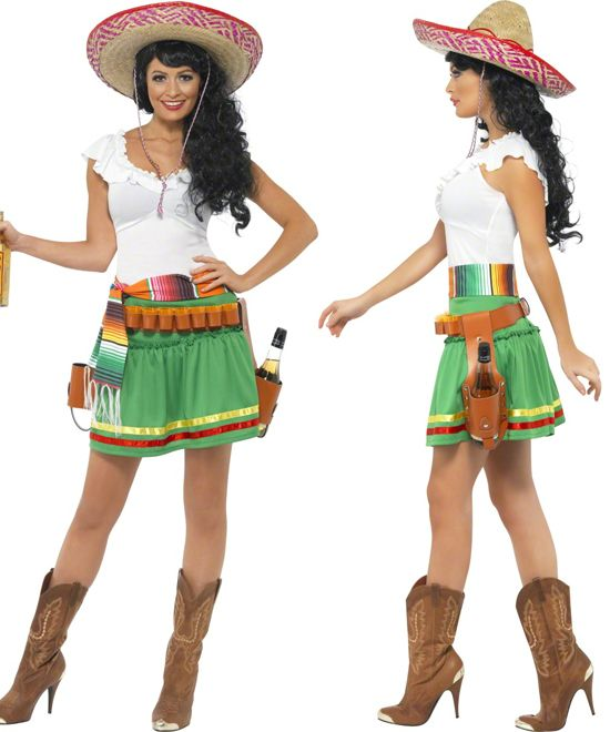 Ladies Tequila Shooter Girl Mexican Hen Party Fancy Dress