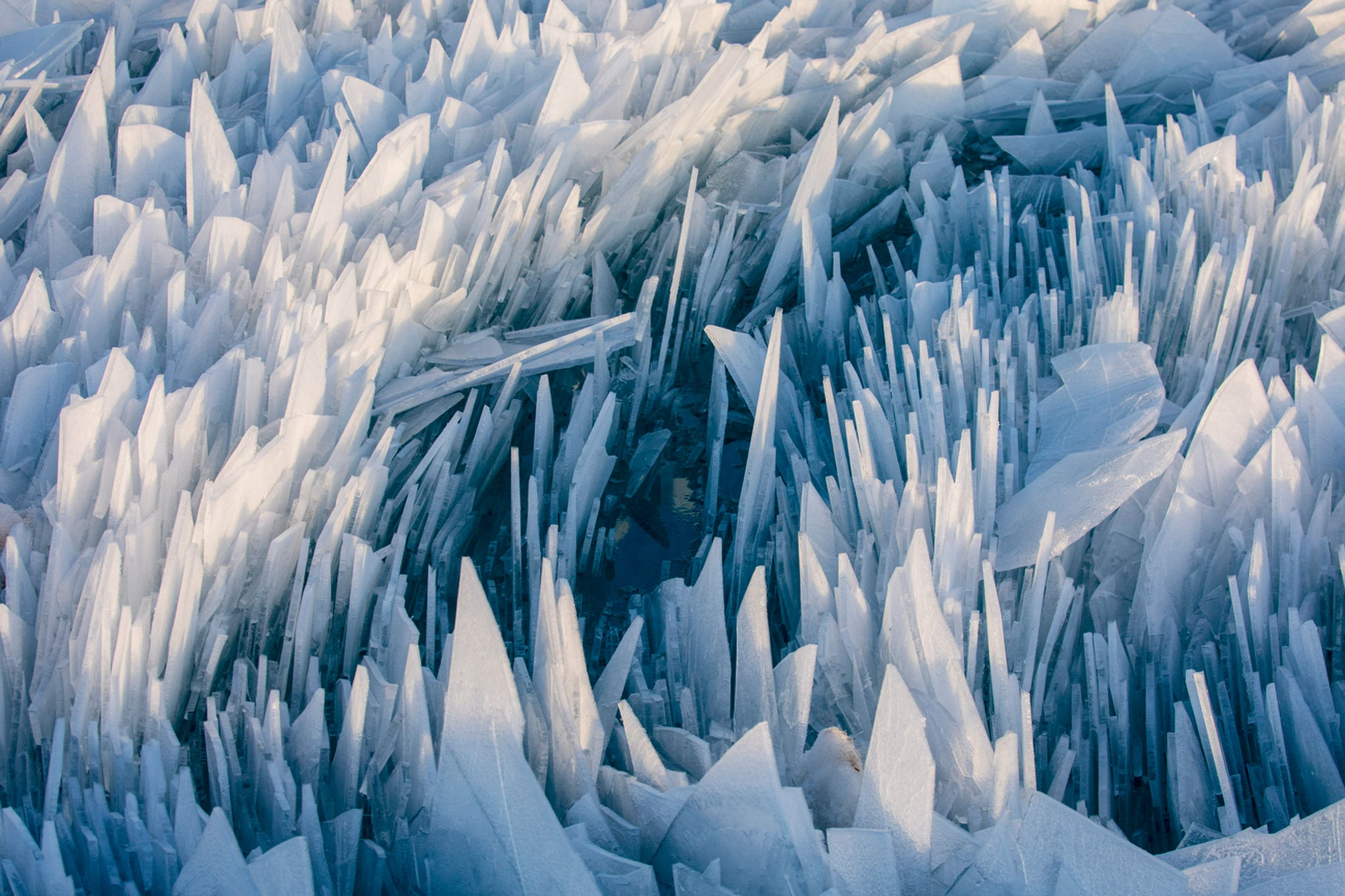 Ice Ice Baby Beautiful Ice Shards Pile Up Along Lake Michigan As Frozen Water Begins To Thaw Surreal Scenes Ice Pictures Ice Aesthetic