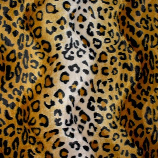 "60 /"" Gold Tiger Print Velboa Faux Fur Fabric BTY 58/"""