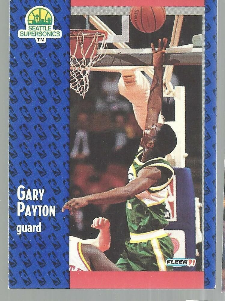 1991 fleer gary payton seattle supersonics 194 basketball