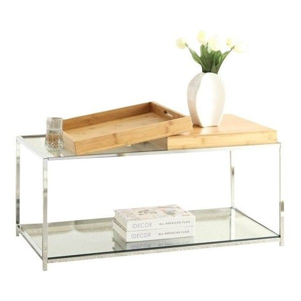 Convenience Concepts Palm Beach Glass Coffee Table ($125) ❤ Liked On  Polyvore Featuring Home