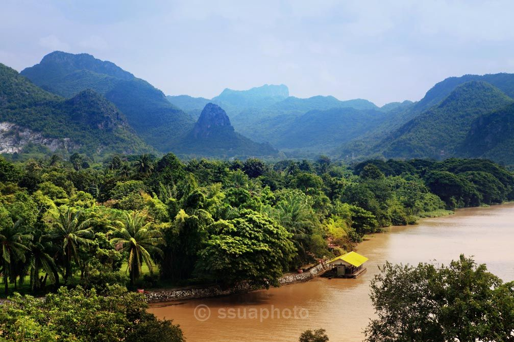 Khwae Yai river which is in Thailand RoyaltyFree Image