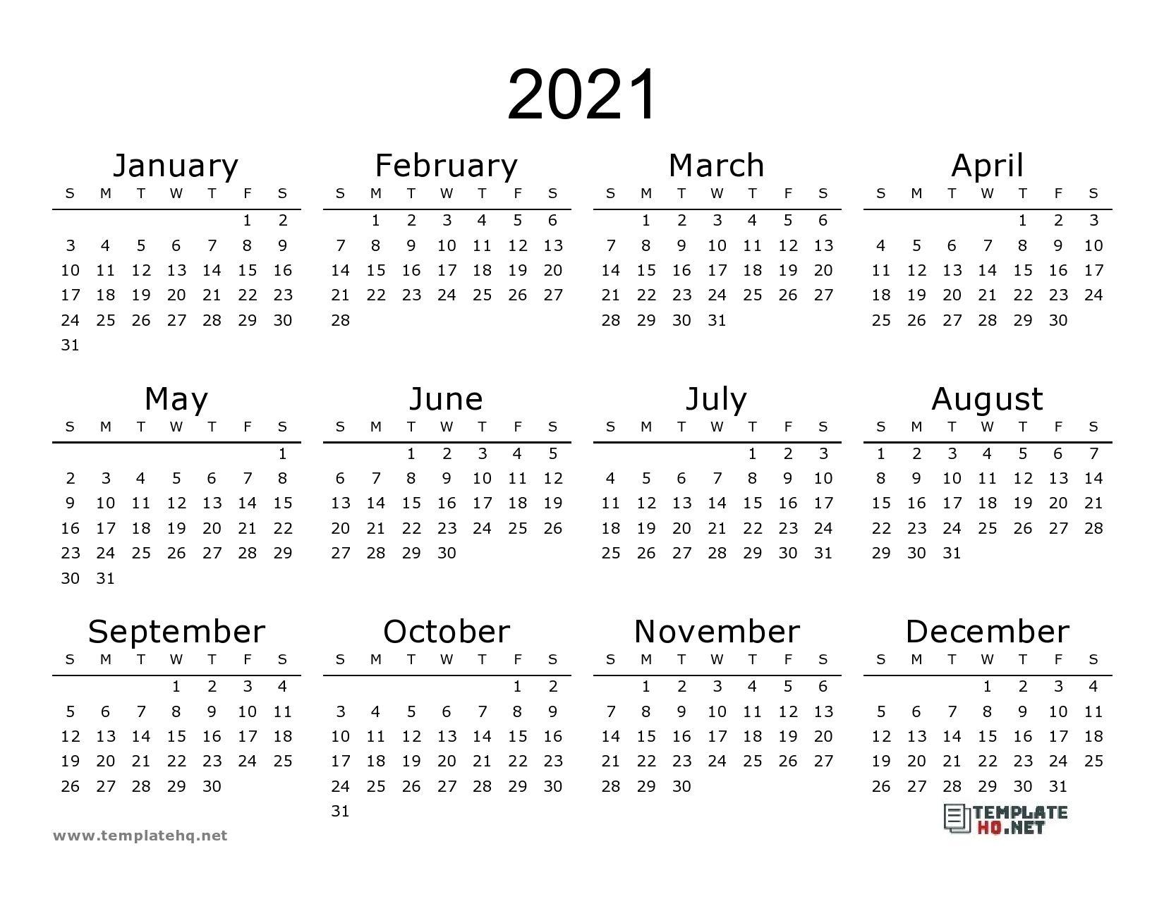 2021 Calendar Printable Pdf Printable Blank Calendar Calendar Template Calendar Printables