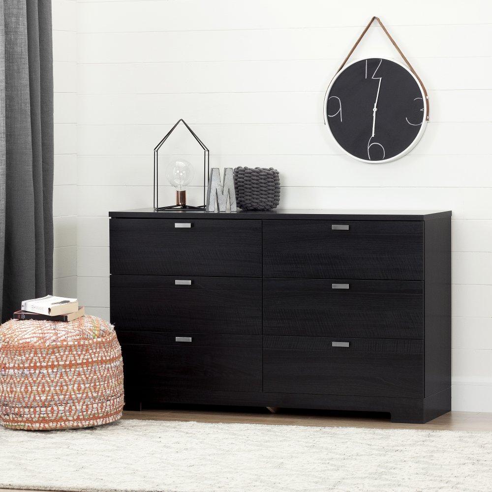 Black 6 Drawer Double Dresser Reevo Rc Willey Furniture Store Storage Furniture Bedroom Black Dresser Bedroom Double Dresser [ 1000 x 1000 Pixel ]