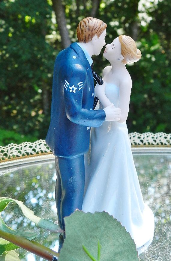 Military Air Force Airman Wedding Cake Topper By Spartacarla
