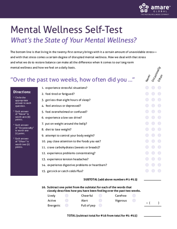 What S The State Of Your Mental Wellness Amare