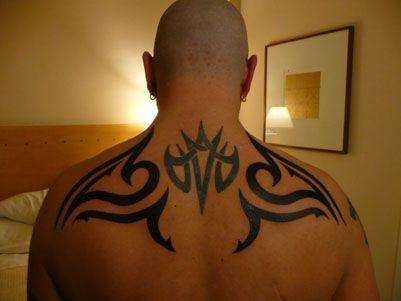 Upper Back Tribal Tattoo For Men Tribal Tattoos Back Tattoos For Guys Tattoos For Guys