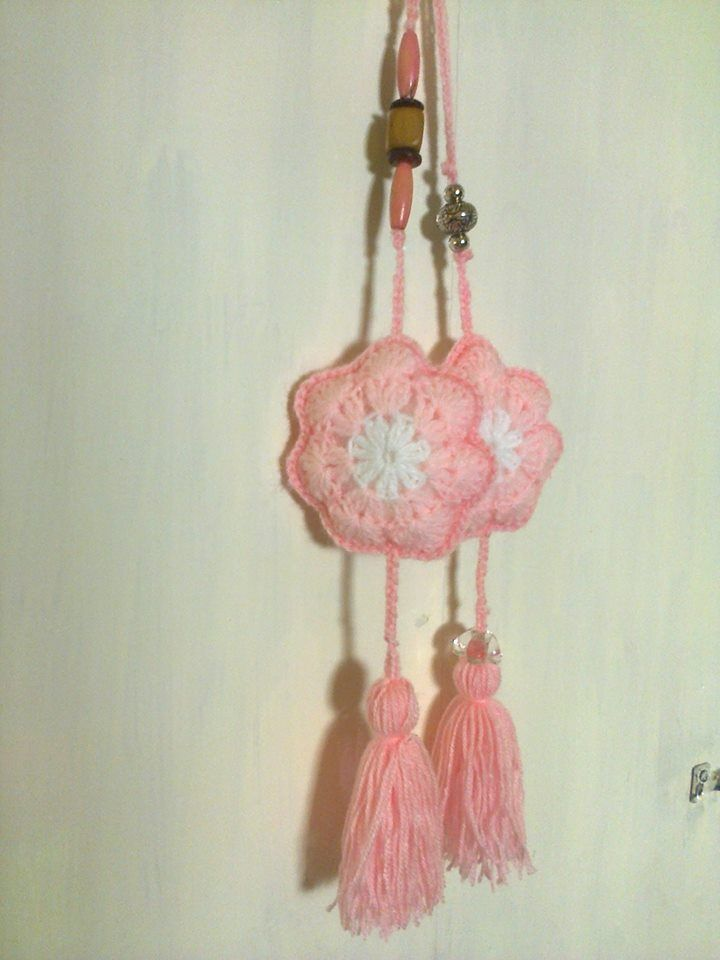 colgantes a crochet, flor africana.   colgantes   Pinterest   Flores ...
