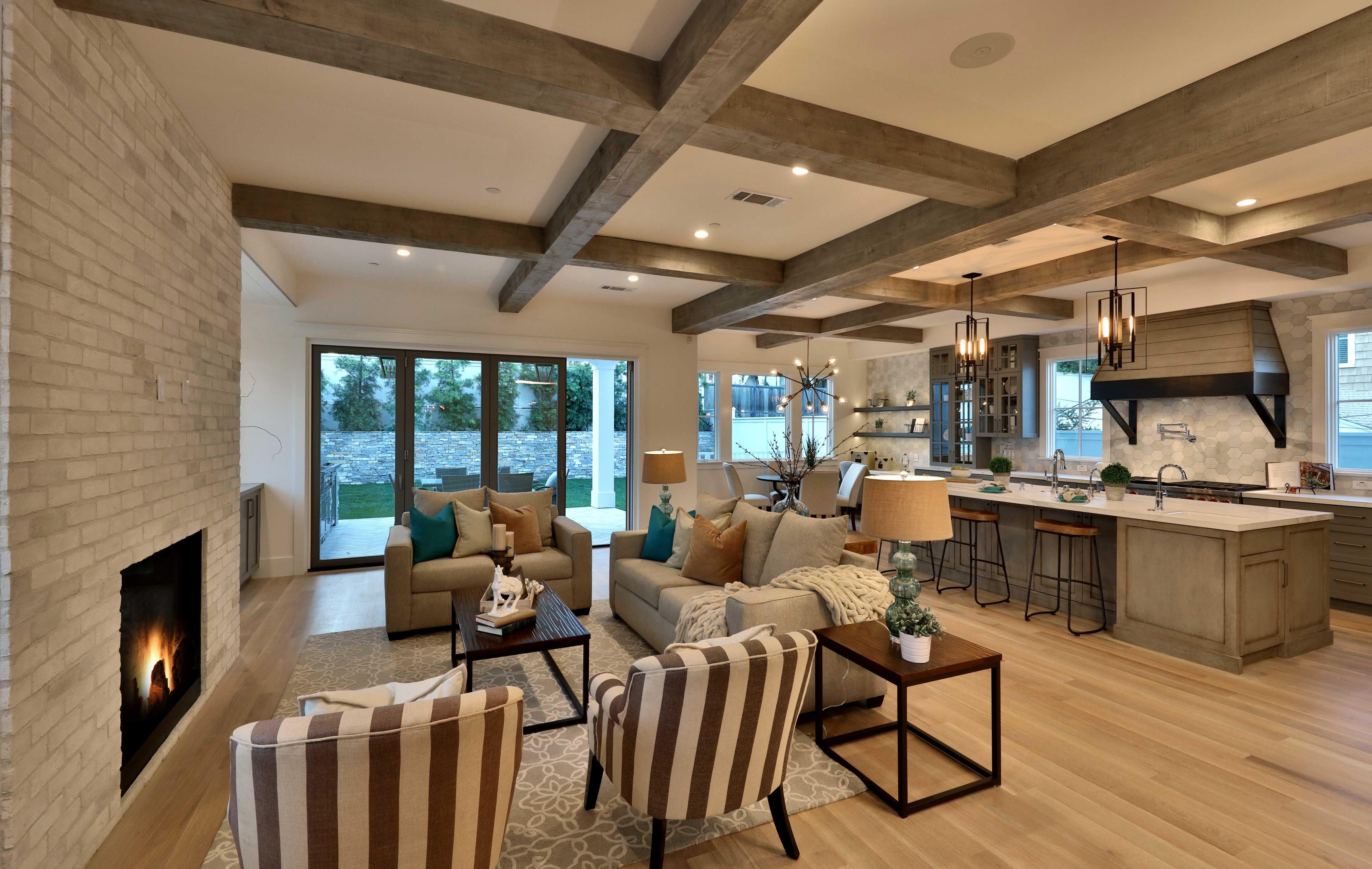 Rustic Open Concept Luxury Home Open Concept Floor Plans Luxury