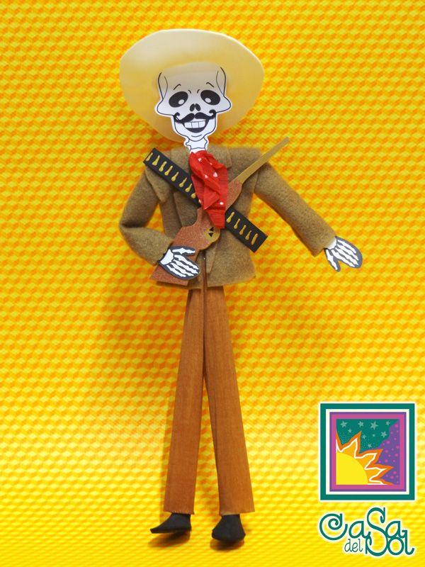 Zapata Calavera De Papel Calaveras Dia De Muertos Y