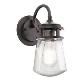 #KichlerLighting #49444AZ #Lyndon - One Light Outdoor Wall Mount Pinterest friends save 15% sitewide with coupon code PIN15!