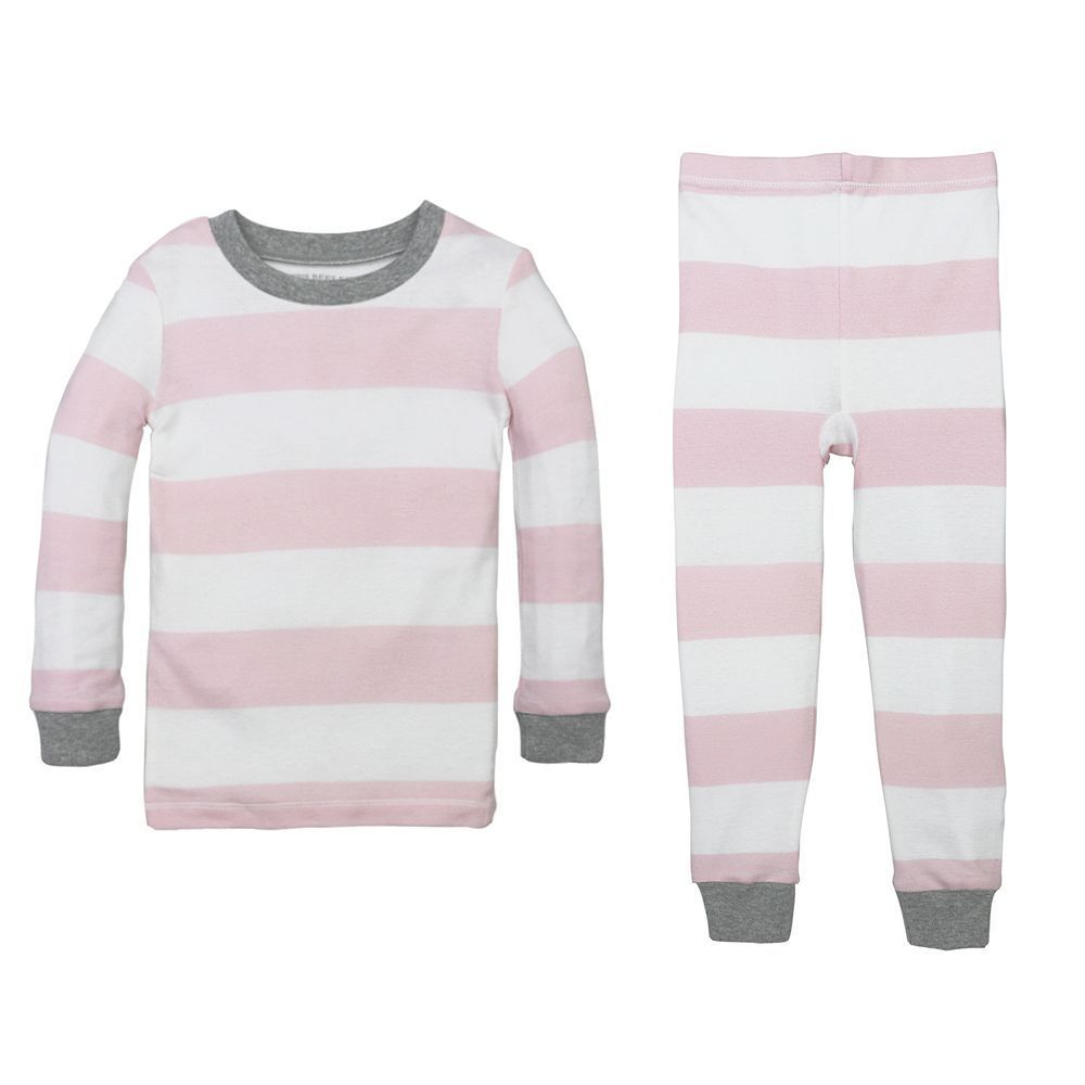 76a55defb Baby Burt's Bees Baby Organic Rugby Stripe Pajama Set, Infant Unisex, Size:  12 Months, Light Pink