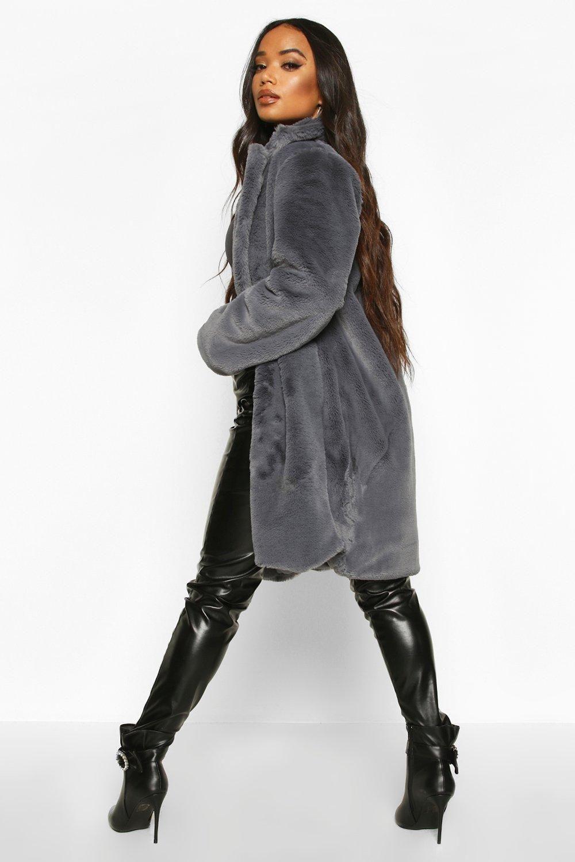 Petite Luxe Faux Fur Coat Boohoo White Faux Fur Coat Grey Faux Fur Coat Black Faux Fur Coat [ 1500 x 1000 Pixel ]