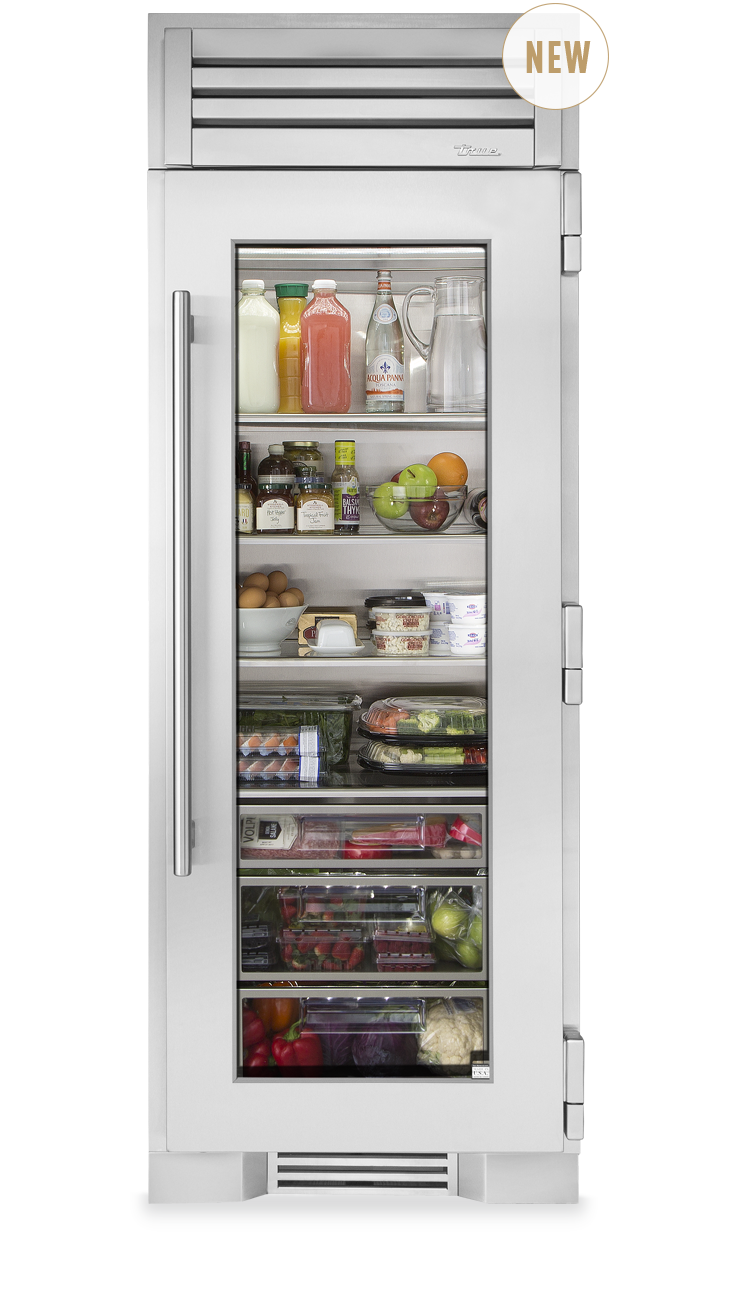True Residential 30 Glass Door Refrigerator Column Glass Door Refrigerator Glass Door Fridge Glass Refrigerator