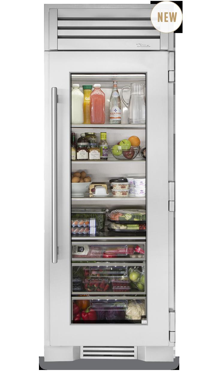 True Residential 30 Glass Door Refrigerator Column Glass Door
