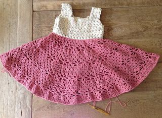 Annoos Crochet World: Little Girl Vintage Dress Free Pattern