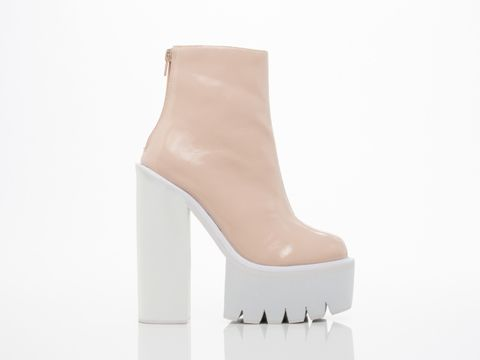 Jeffrey Campbell Mulder High Heel Boot in Pink Patent White at Solestruck.com