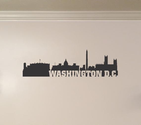 Washington D C District Of Columbia Skyline Interior Wall