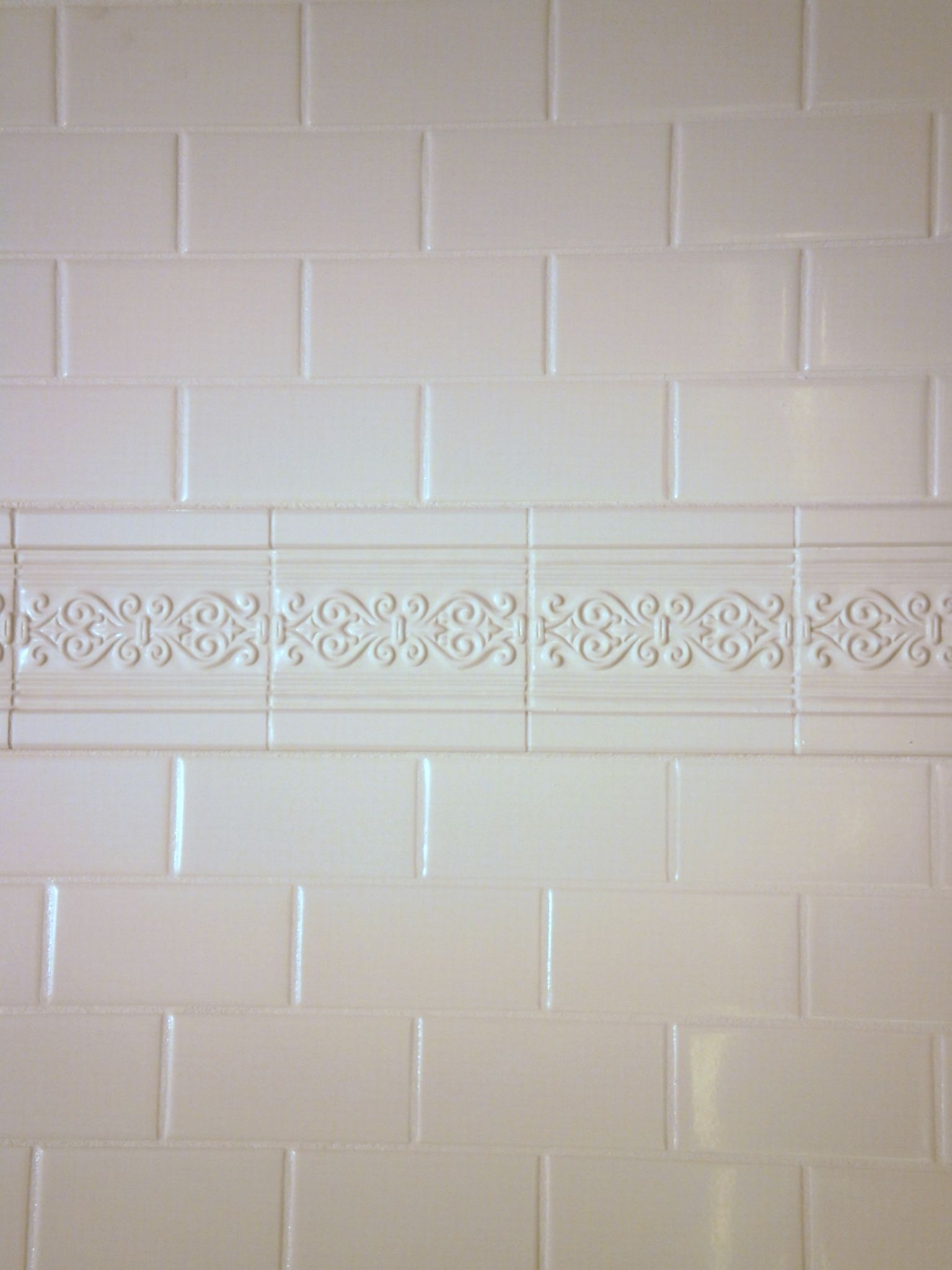 Cultured marble shower surround panel that looks like tile by ...