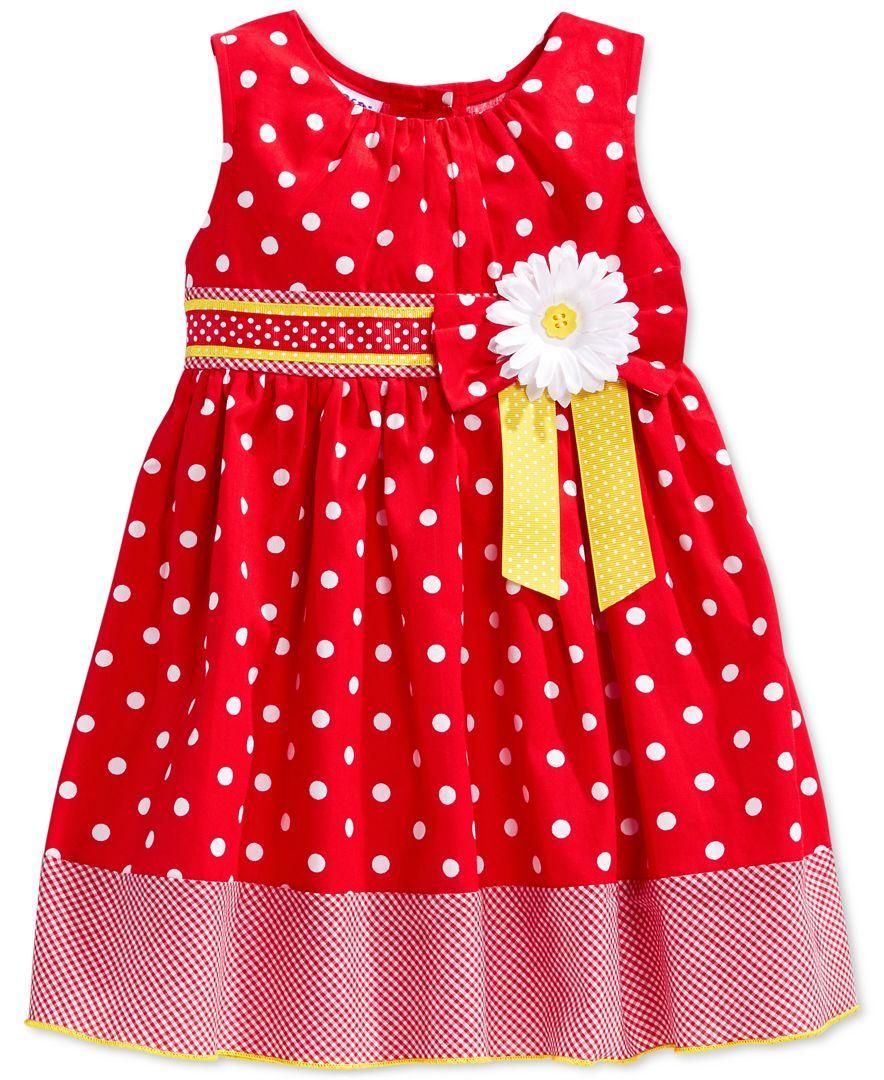 White apron macy's - Blueberi Boulevard Baby Girls Red White Dot Dress Kids Baby Macy S