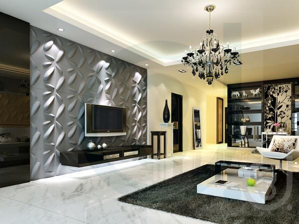 3d Wall Surface Decoration 3d Tv Setting Wall Wave Panels 2013 Decoracao De Casa Casas Casas Novas