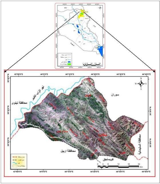 الجغرافيا دراسات و أبحاث جغرافية أثر المنحدرات الأرضية على النشاط البشري في قضاء شق Places To Visit Geography Map