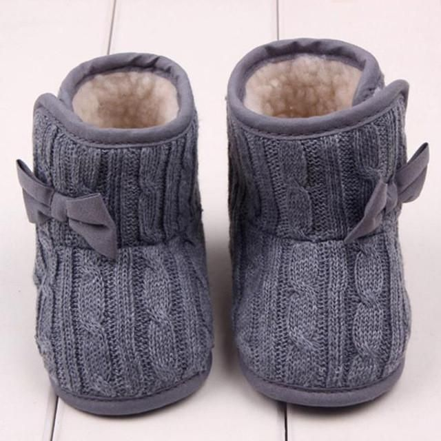 Photo of Bow-knot Knitted Boots