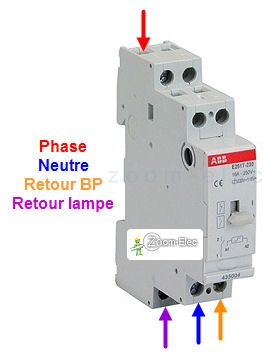 Cablage Branchement Telerupteur Abb Unipolaire Voir Schema Schema Electrique Electricite Schema Installation Electrique Maison