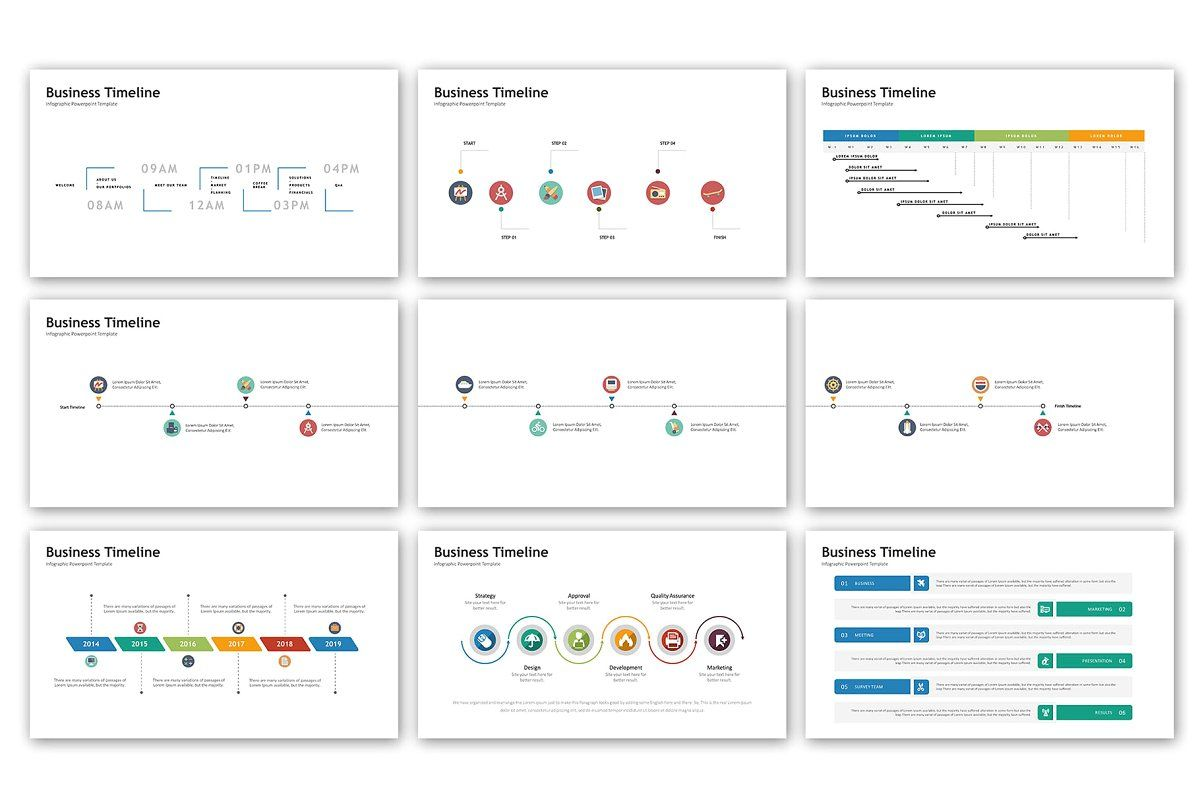 timeline presentation infographic template design powerpoint templates