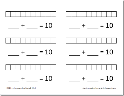 Worksheets Number Bonds To 10 Worksheet addition pairs to 10 worksheets free printable for number bonds ten coffemix