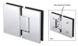 Mel380ch Crl Polished Chrome 180 Degree Adjustable Glass To Glass Melbourne Hinge In 2020 Polished Chrome Hinges Glass