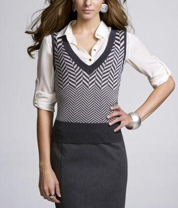 sweater vest in herringbone | Women's Business Casual Attire ...