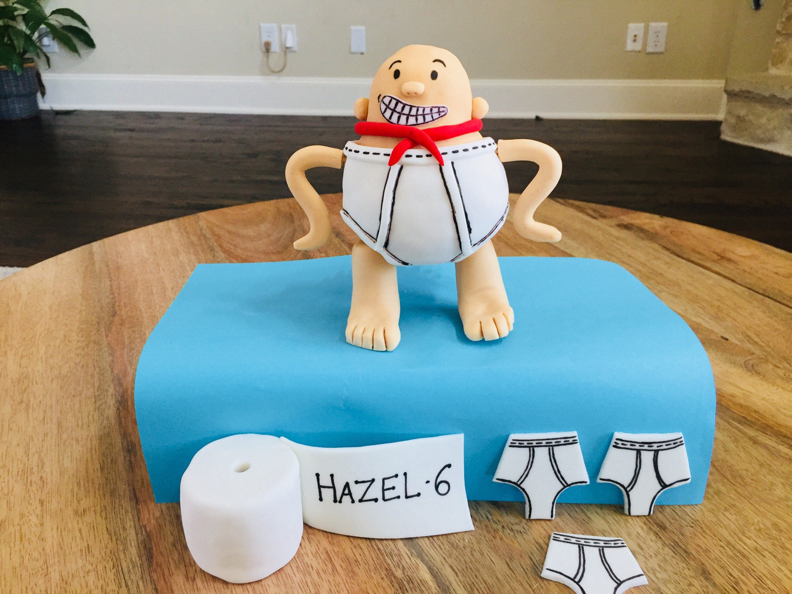 Fondant captain underpants cake topper | Cake toppers ...