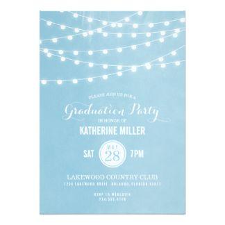 Sommer-Schnur beleuchtet Abschluss-Party 12,7 X 17,8 Cm Einladungskarte
