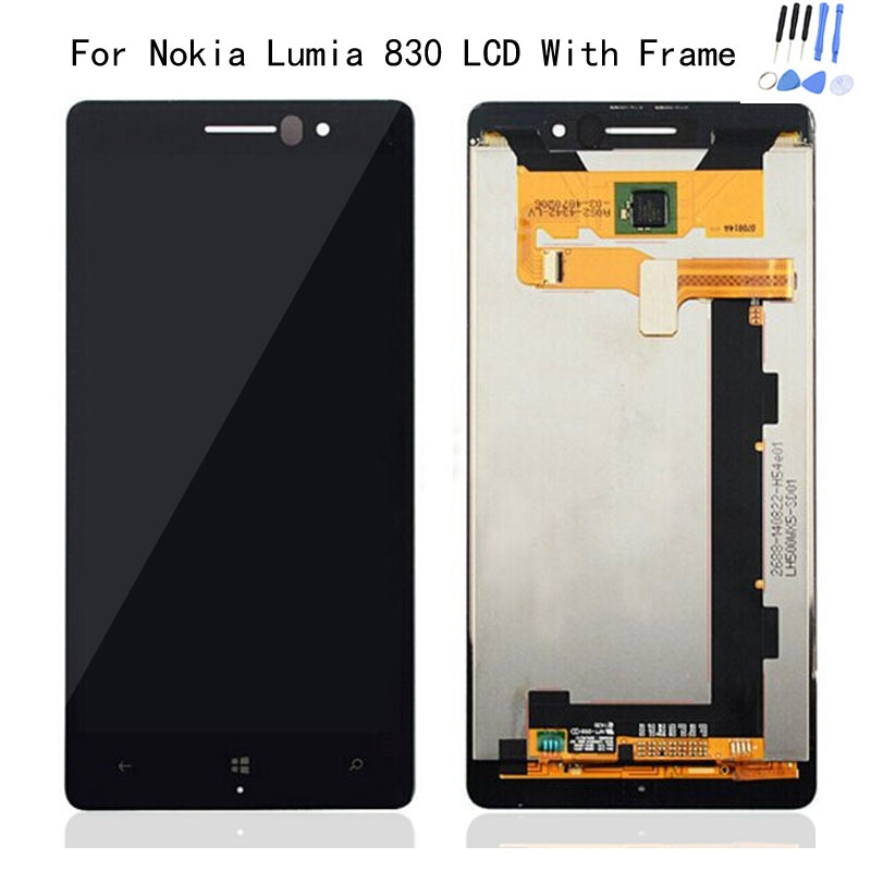 58.32$  Watch now - http://ali8g0.worldwells.pw/go.php?t=32697687046 - Hot Sale 100% Test N830 LCD Cover For Nokia Lumia 830 LCD Display + Touch Screen Digitizer Assembly + Frame +Tools Free Shipping 58.32$