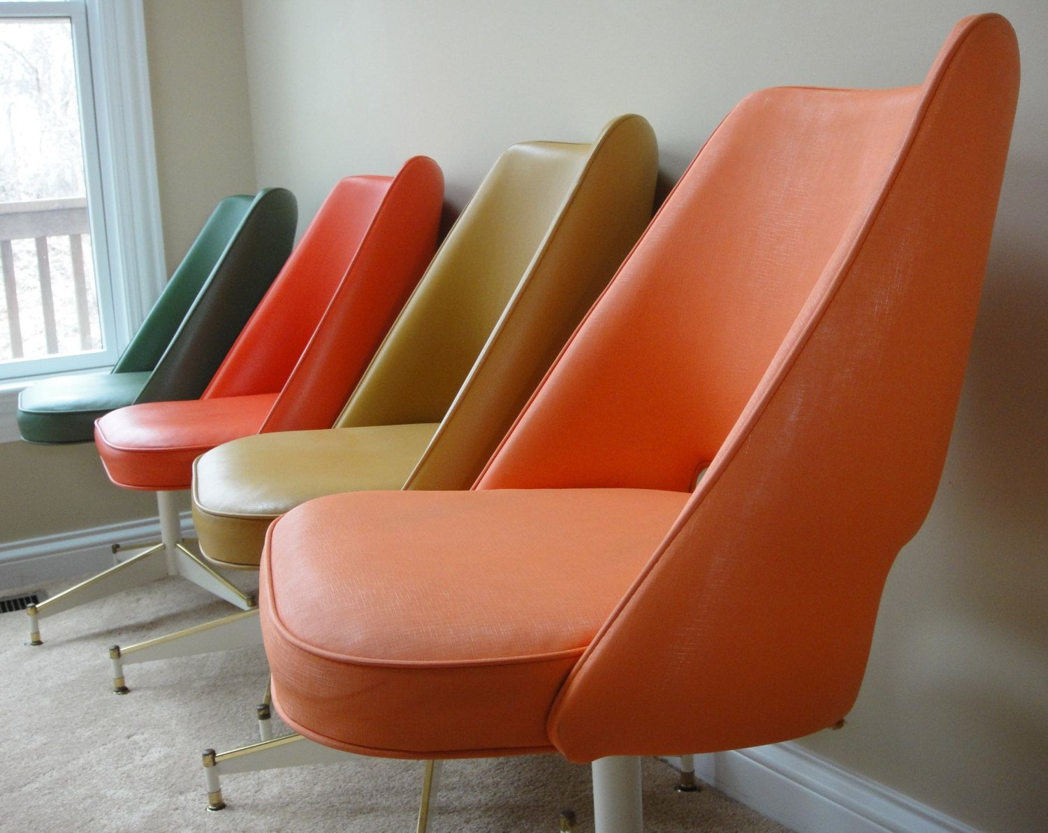 Prime Set Of Four Colorful Vintage B Brody Seating Co Chicago Il Gmtry Best Dining Table And Chair Ideas Images Gmtryco