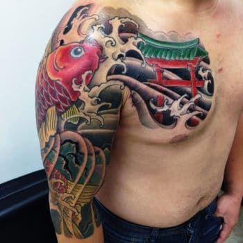 Japanese Tattoo George Bardadim Tattoo Artist Nyc In 2020 Sleeve Tattoos Tattoos Half Sleeve Tattoos Designs