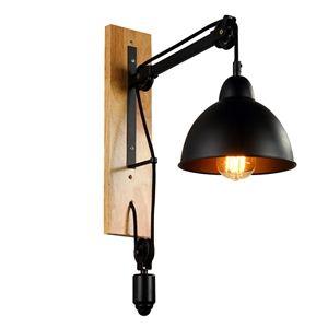 Wandleuchten Rustikal eu lager wandleuchte rustikal seilrolle design aus eisen schwarz 1